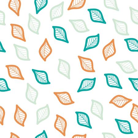 color leaf vector Seamless pattern Standard-Bild - 123870617
