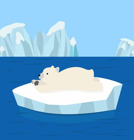 Bear Polar  Sleep North pole Arctic  イラスト・ベクター素材