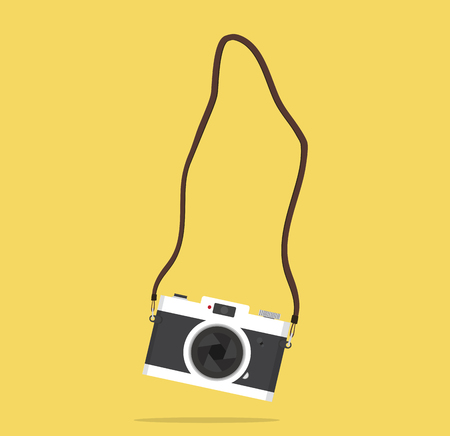 hanging camera  with strap Illustration