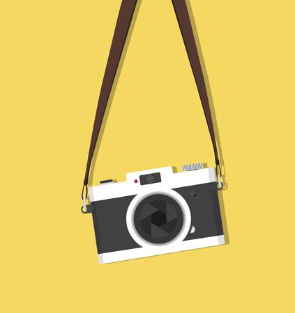 appareil photo vintage suspendu avec sangle
