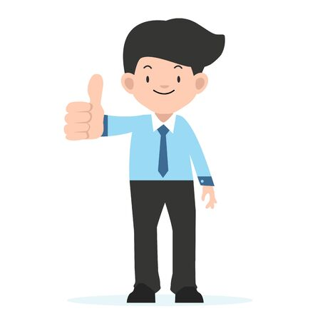 businessman  standing with big thumbs up