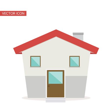 small house  vector flat style Çizim