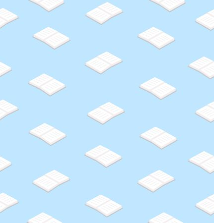 white books  flat design seamless pattern