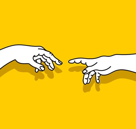 Helping  hands  vector  illustration concept