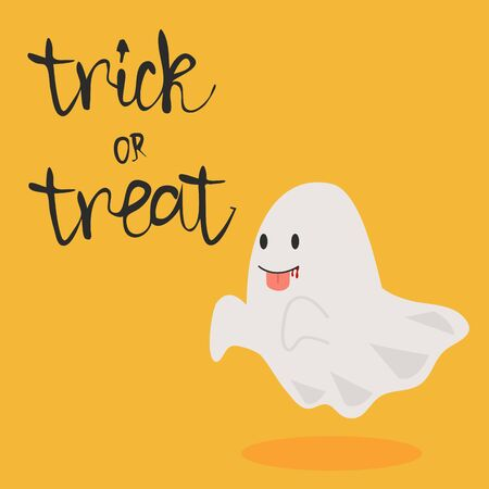 halloween ghost vector with tongue