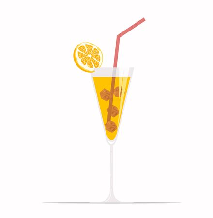 orange juice Icon of drink vector
