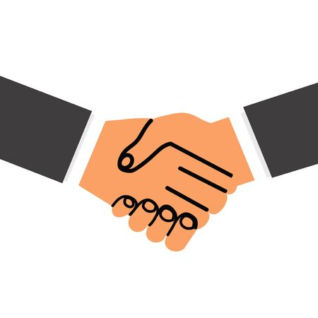 business hand with shaking hand