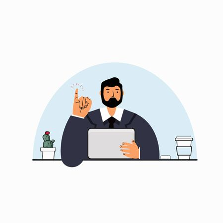 Businessman Making a Promise vector
