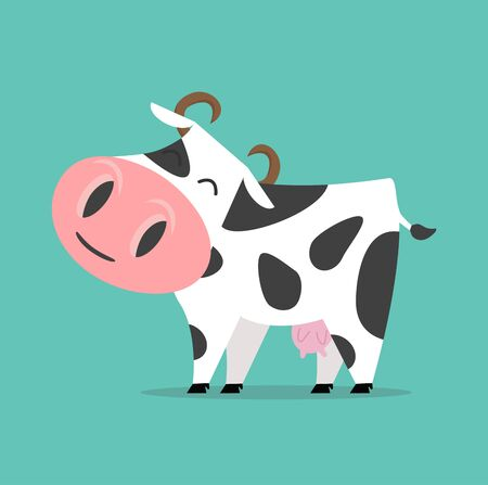 Cute Cow isolated Vector illustration