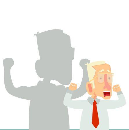 businessman of  shadow career strength