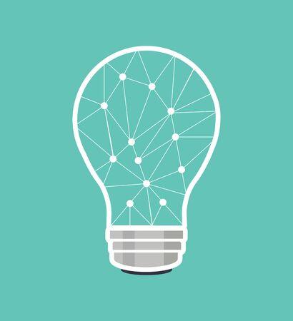 Creative brain light bulb connect the dots 일러스트