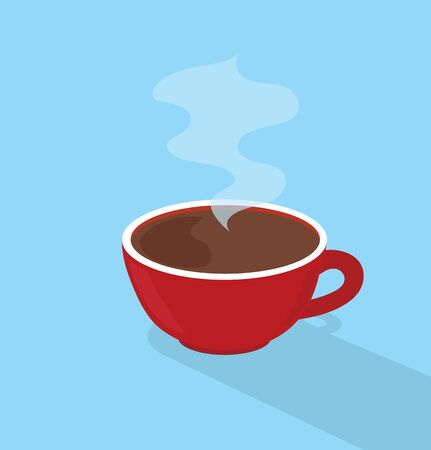 red coffee hot cup vector