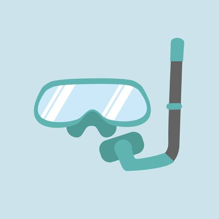 scuba equipment  flat icon vector Ilustracja