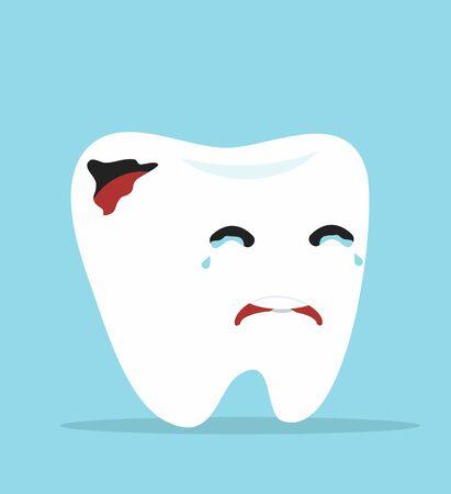 Cute tooth Cartoon dental caries