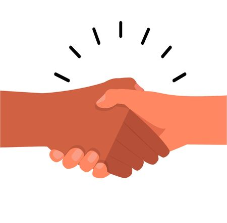 shaking hand agreement  flat icon vector