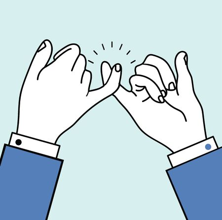 business promise hands gesturing vector
