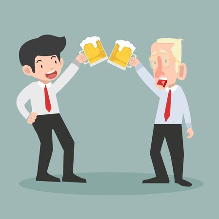 businessmen with alcohol drinks vector