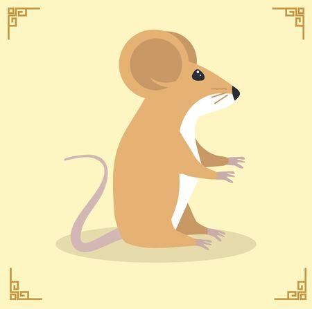 Rat Mouse Character Vector Illustration Foto de archivo - 137566456