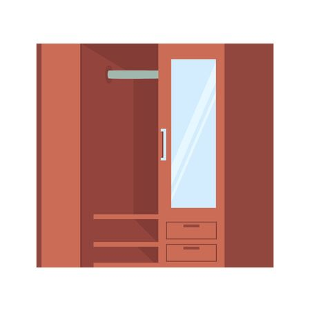 Isometric Closet vector icon on white background