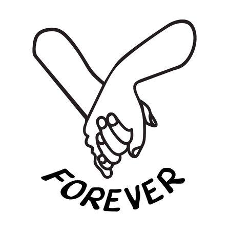 Joli couple main dans la main promesse icône