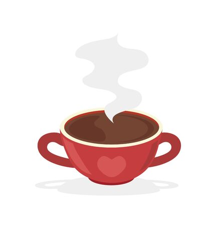 red coffee hot cup vector illustration Vector Illustration