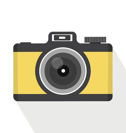 Vintage camera On Isolate White Background