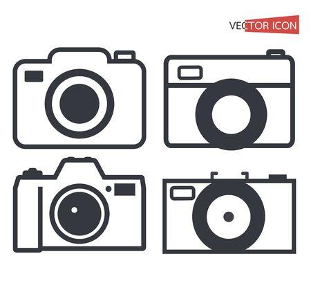 camera icon symbol isolated on white background