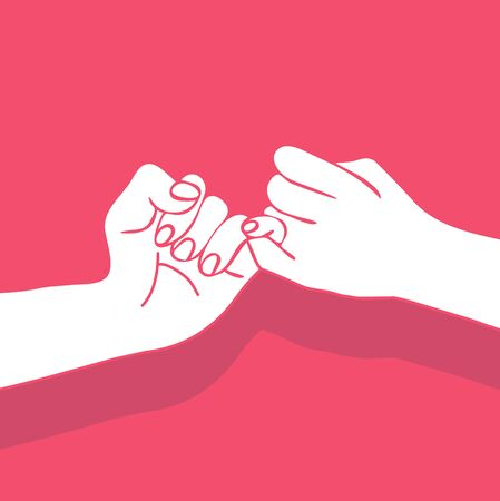 hand holding vector Promise  Flat design style