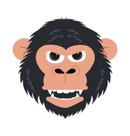 chimpanzee monkey head mascot vector