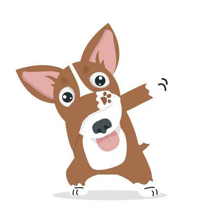 Cute dabbing Dog cool cartoon