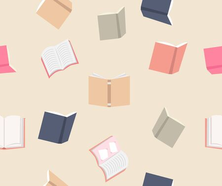 Color Books seamless pattern background