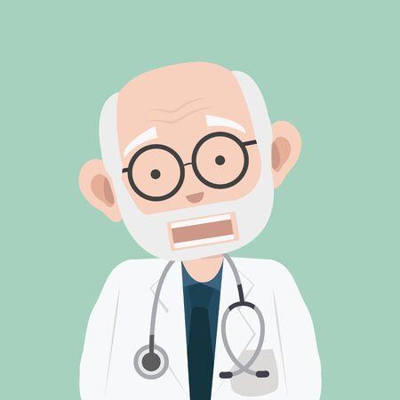 Doctor man cartoon illustration vector