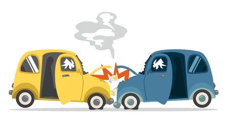 accident car  isolated on white background Illustration