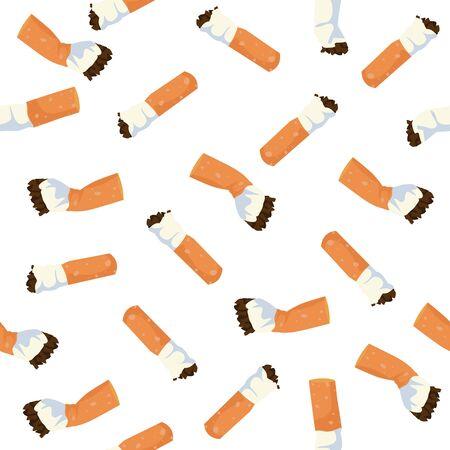 Cigarettes Vector illustration Seamless pattern Vector Illustratie