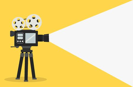cinema film camera vector concept Ilustracje wektorowe