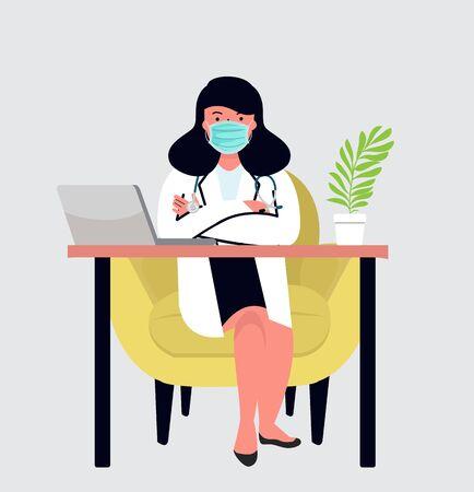 female Doctor  in hospital medical office