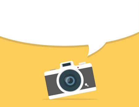 Retro camera header with copy space background