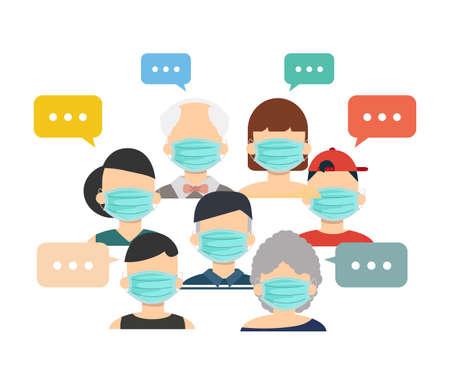 Men and woman communication,brainstorm concept