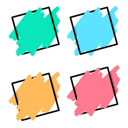 A set of colorful Template on white