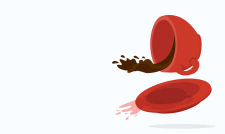 Vector illustration of spilled coffee