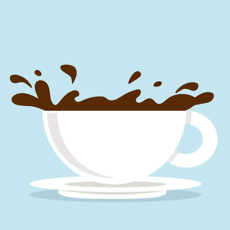 Vector illustration of Coffee Cups spilled coffee Illustration