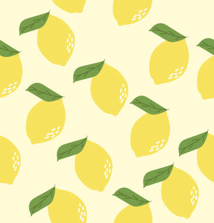 Abstract lemon background Summer seamless pattern  イラスト・ベクター素材