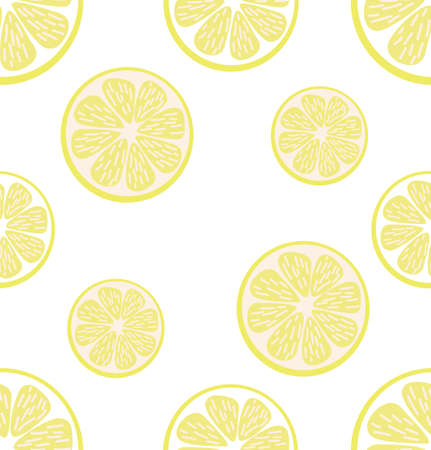 Abstract lemon background Summer slice of a lemon seamless pattern