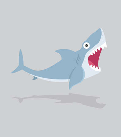 Shark Cartoon Vector Character open mouth