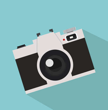 Old camera in a Flat style.