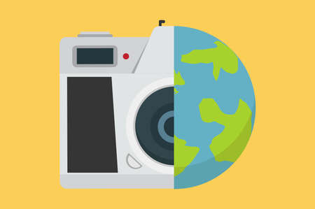 View from  camera vector Travel and photo