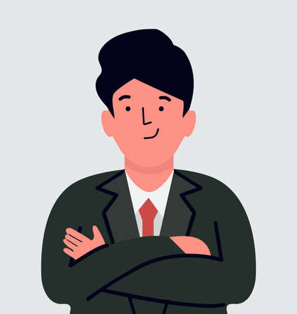 businessman character flat design vector