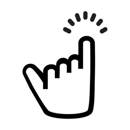 little finger line icon promise flat Illusztráció