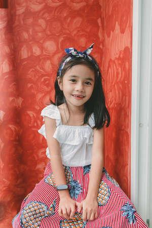 Fashion portrait of little girl