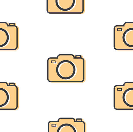 camera icon symbol flat style seamless pattern vector Ilustração